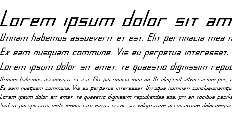 Sample of Blue July Bold Condensed