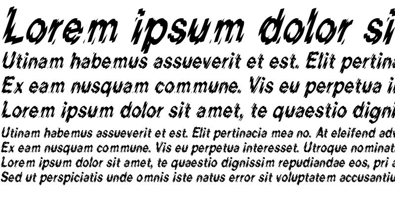Sample of Blur-Condensed Italic