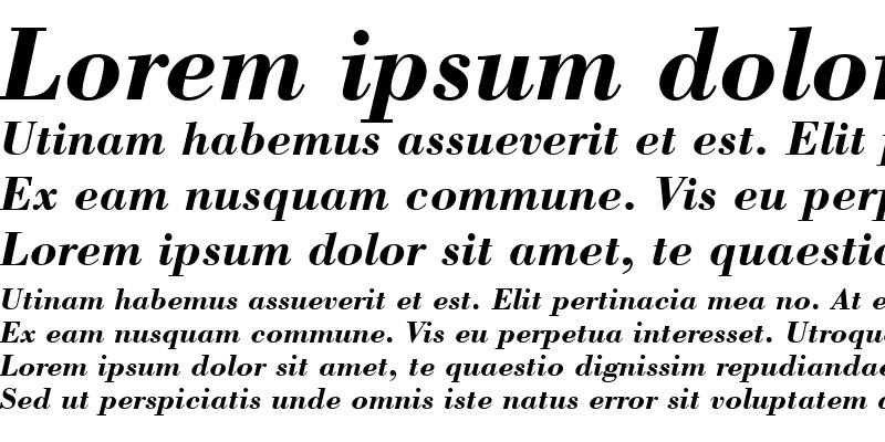 Sample of Bodoni Bd BT