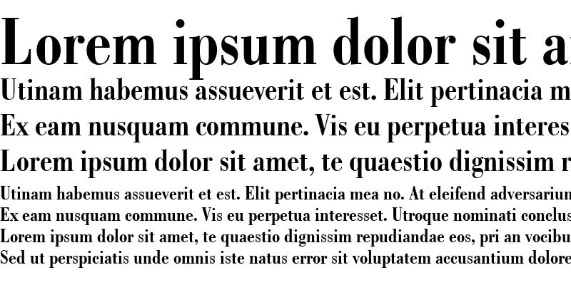 Sample of Bodoni BdCn BT
