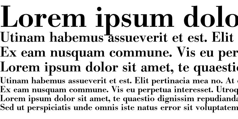 Sample of Bodoni BE Medium