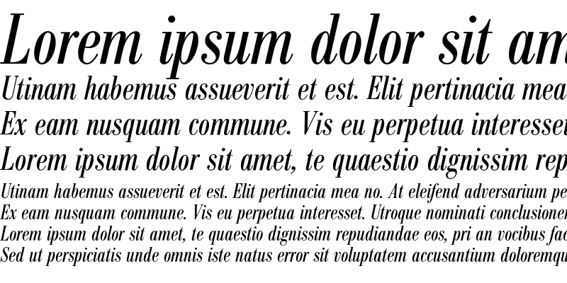 Sample of Bodoni Berthold Condensed BQ