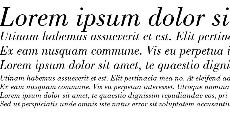 Sample of Bodoni Bk BT