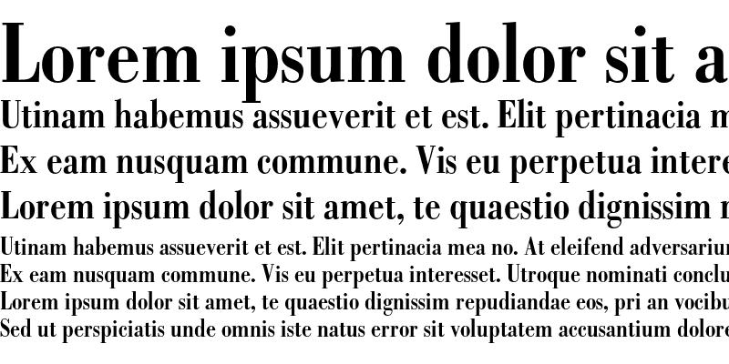 Sample of Bodoni Bold Condensed