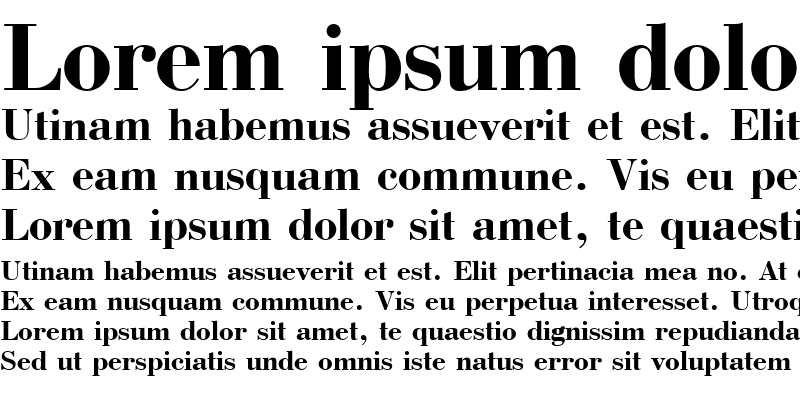 Sample of Bodoni Bold Cyrillic
