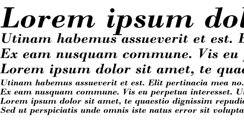 Sample of Bodoni Bold Italic