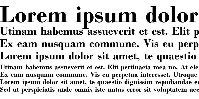 Sample of Bodoni Bold
