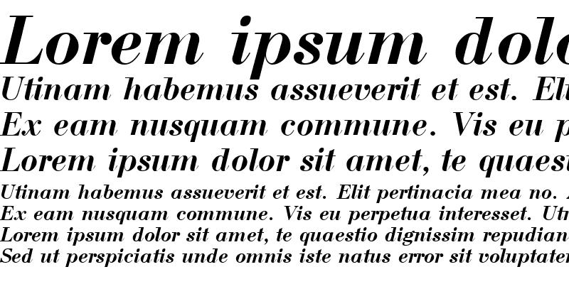 Sample of Bodoni BoldItalic Cyrillic@