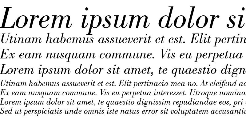 Sample of Bodoni-Book