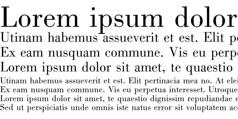 Sample of Bodoni Book