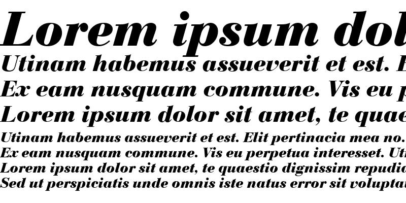 Sample of Bodoni-CE