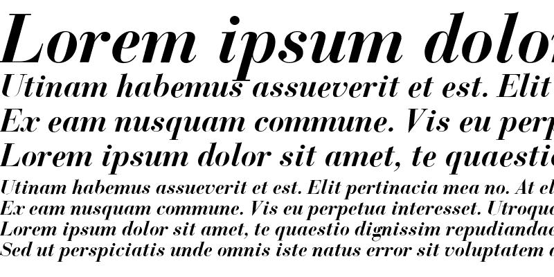 Sample of Bodoni Classic Bold Italic