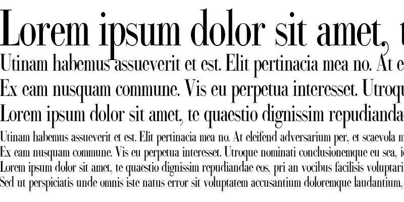 Sample of Bodoni Classic Condensed
