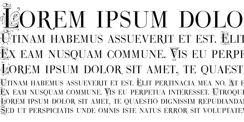 Sample of Bodoni Classic Deco Caps Medium