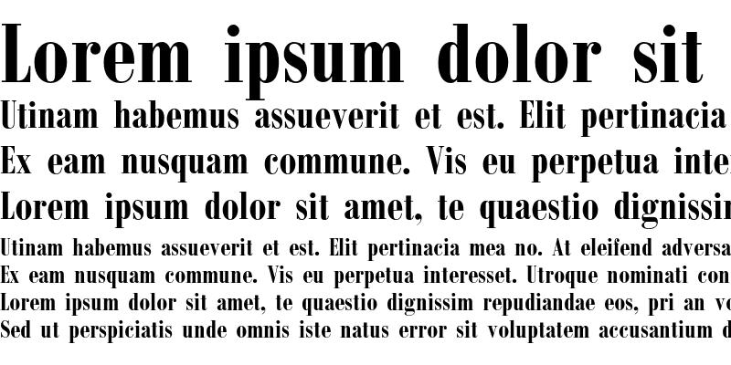 Sample of Bodoni Condensed