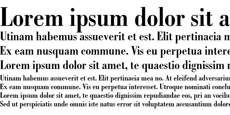 Sample of Bodoni-Condensed Bold