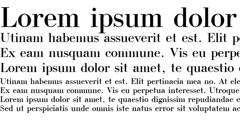 Sample of Bodoni Cyrillic