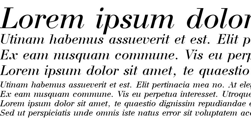 Sample of Bodoni Italic Cyrillic@