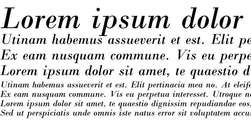 Sample of Bodoni Italic