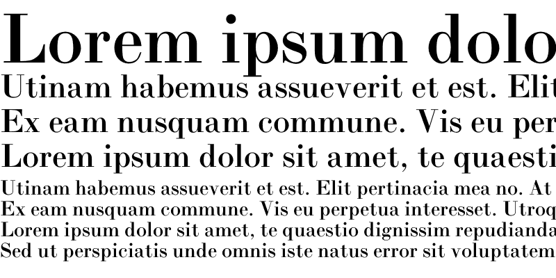 Sample of Bodoni L