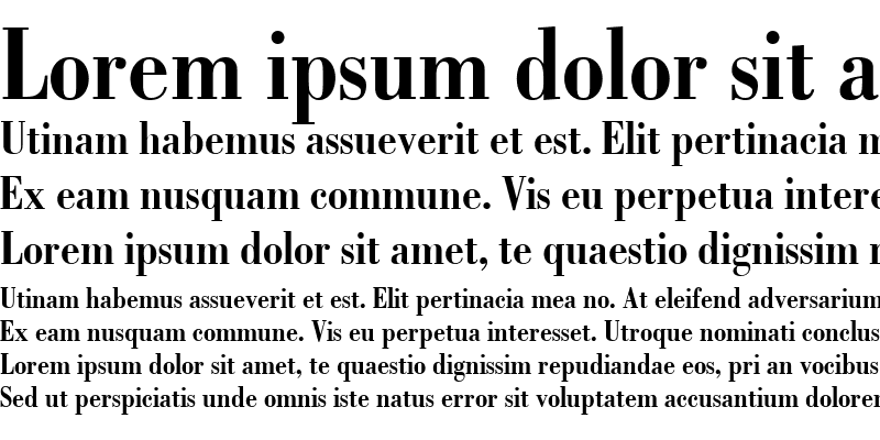 Sample of Bodoni LT BoldCondensed