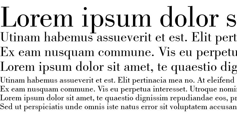 Sample of Bodoni LT Book