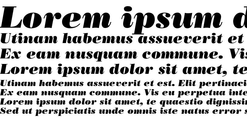 Sample of Bodoni LT Poster Italic