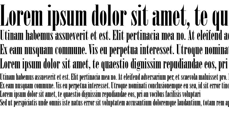 Sample of Bodoni MT Poster Compressed