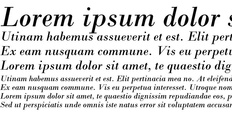 Sample of Bodoni MT Std Italic