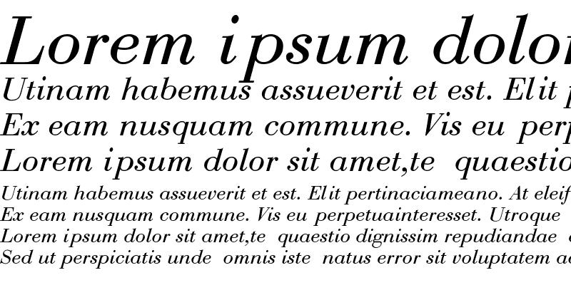Sample of Bodoni-Normal-Italic