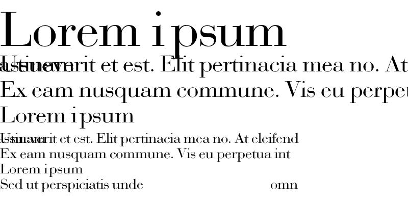 Sample of Bodoni-Normal