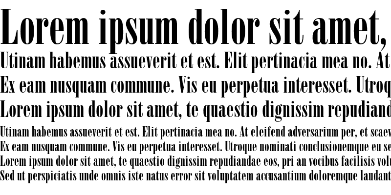Sample of Bodoni Poster Compressed