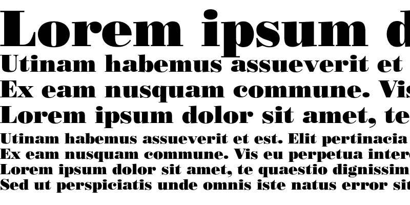 Sample of Bodoni-Poster