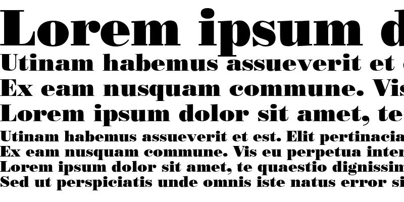 Sample of Bodoni Poster SSi