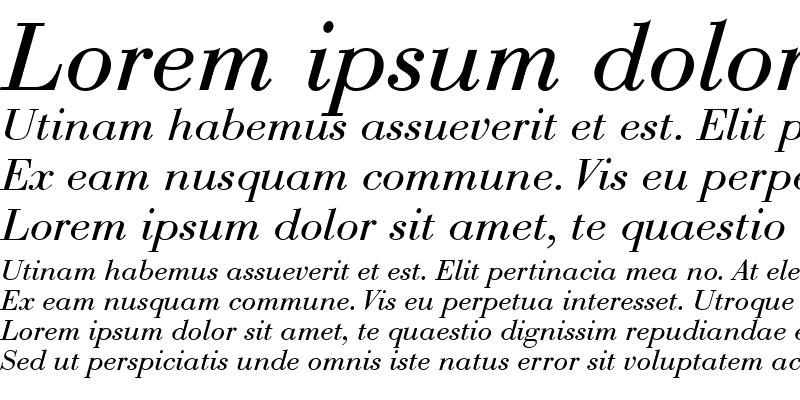 Sample of Bodoni Recut Condensed SSi