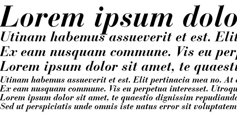 Sample of Bodoni Recut SSi Bold Italic