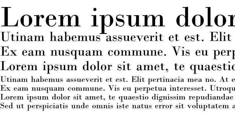 Sample of Bodoni