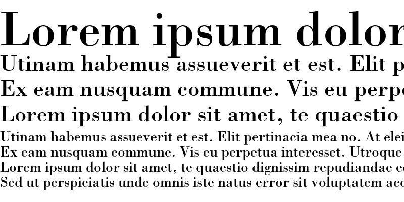 Sample of Bodoni Roman