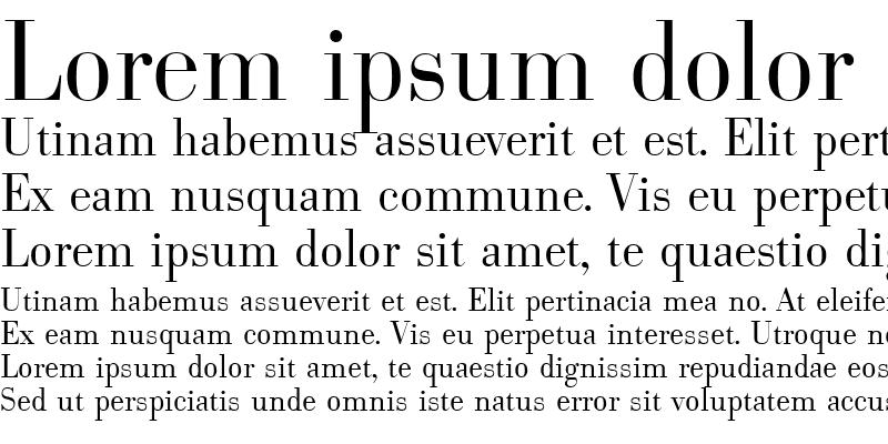 Sample of Bodoni-Serial-Light Regular