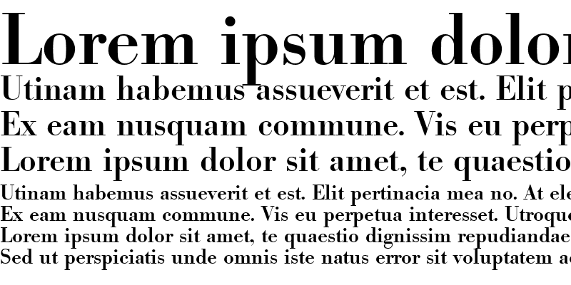 Sample of Bodoni-Serial-Medium
