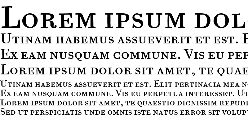 Sample of Bodoni Six SC ITC TT