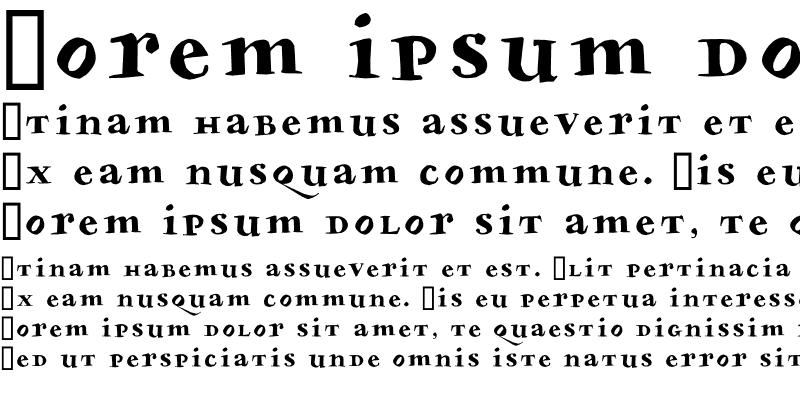 Sample of Bodoni Slapp