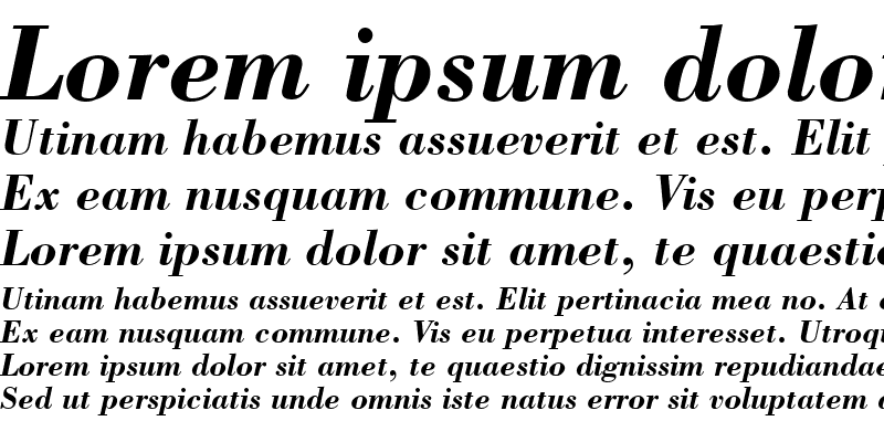Sample of Bodoni SSi Bold Italic