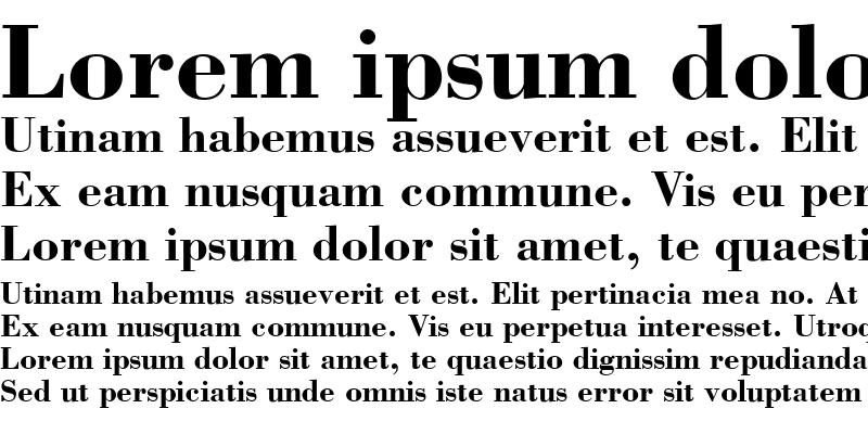 Sample of Bodoni SSi Bold