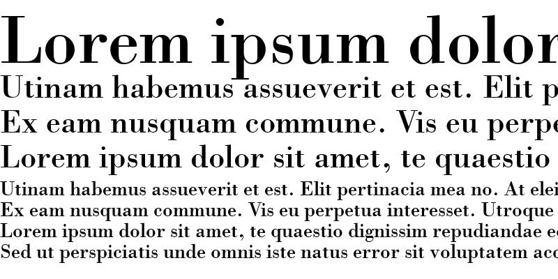 Sample of Bodoni SSi Regular