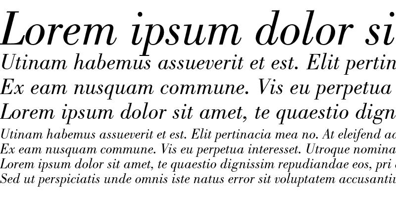 Sample of Bodoni Std Book Italic