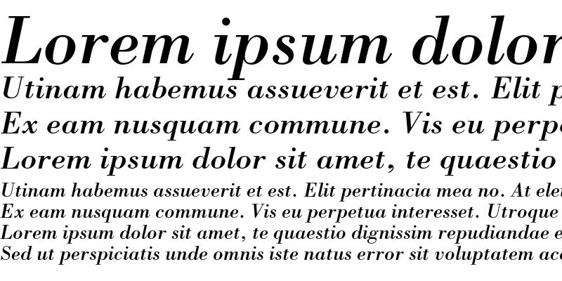 Sample of Bodoni Std Italic