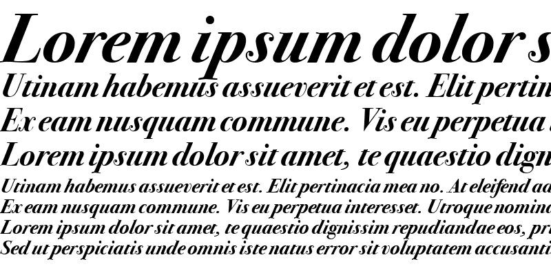 Sample of Bodoni SvtyTwo ITC TT