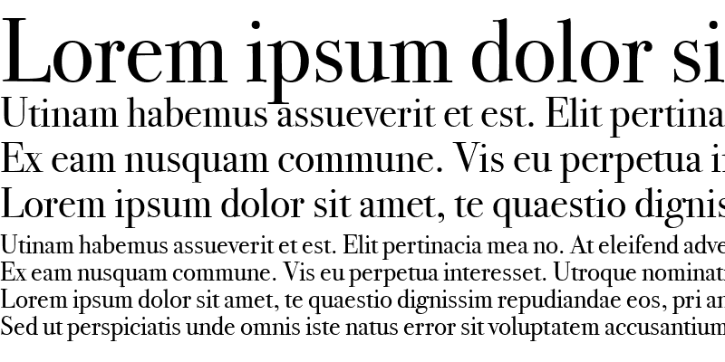 Sample of Bodoni SvtyTwo OS ITC TT Book