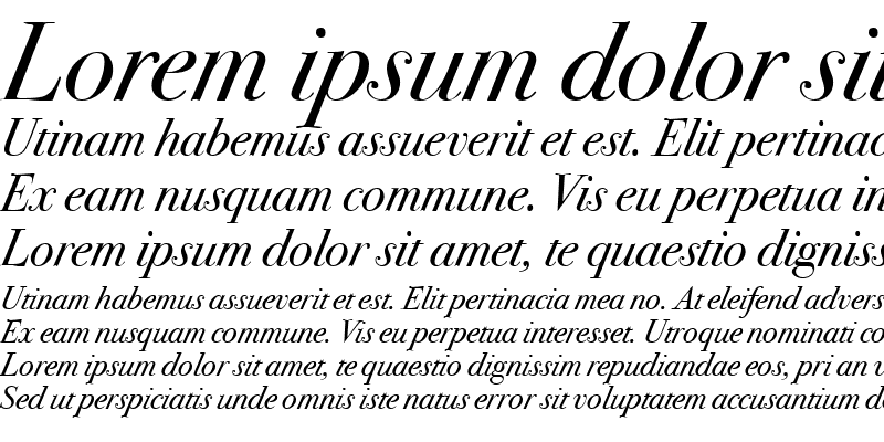 Sample of Bodoni SvtyTwo OS ITC TT